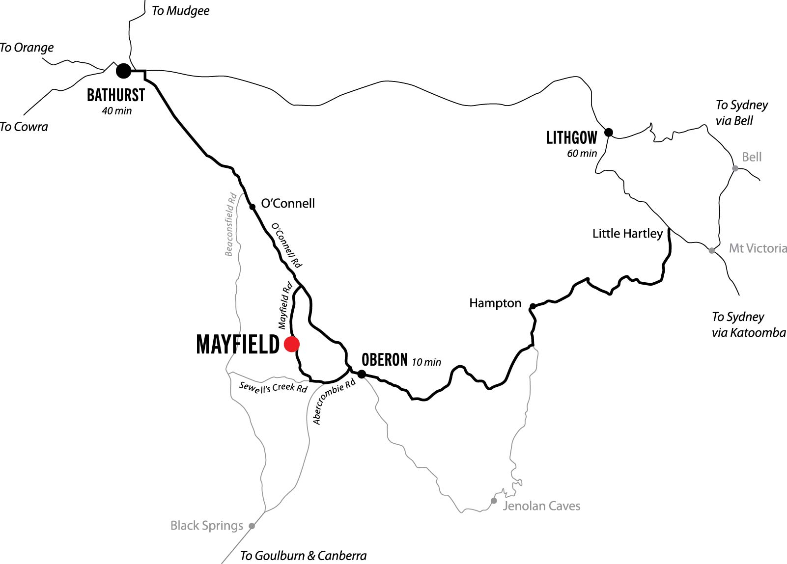 Mayfield on the Map