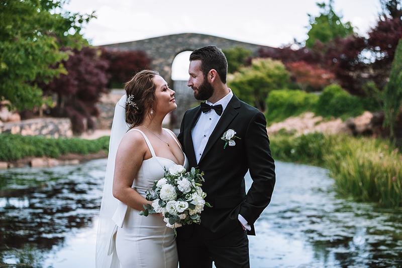 Bluestone Bridge Wedding at Mayfield Garden